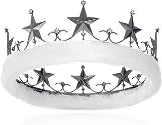 DcZeRong Adults Men Crown King Birthday Crowns Homecoming Prom Costume King Crown Black Metal Crown