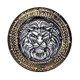 Boland 43999 - Ritterschild, Durchmesser 44,5 cm, gold-silber, Schutzschild, Gladiator, Römer, Kämpfer, Kostüm, Karneval, Mottoparty