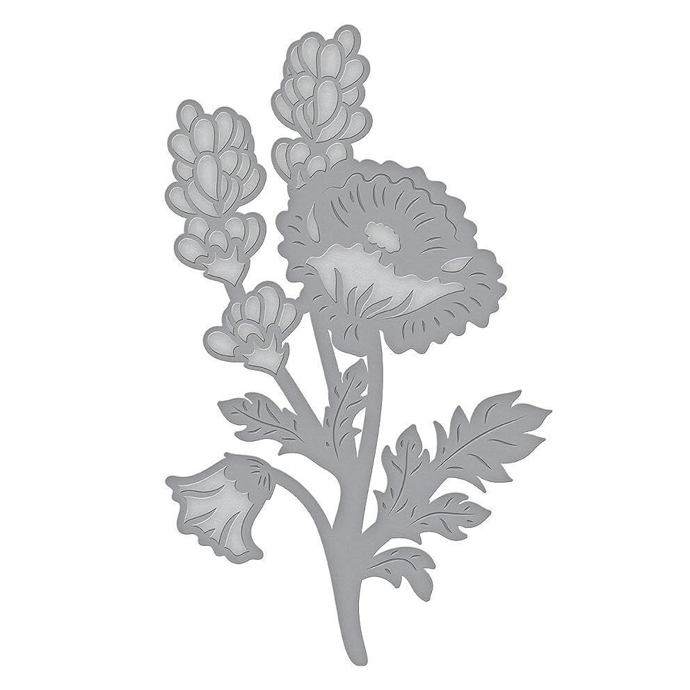 Spellbinders Die D-Lites Poppy & Lavender Spray Etched/Wafer Thin Dies