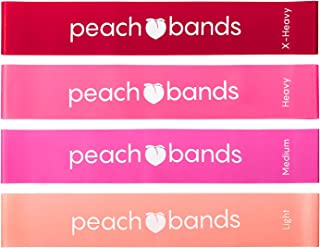 Peach Bands | Premium Matte Resistance Loop Bands | Pink...