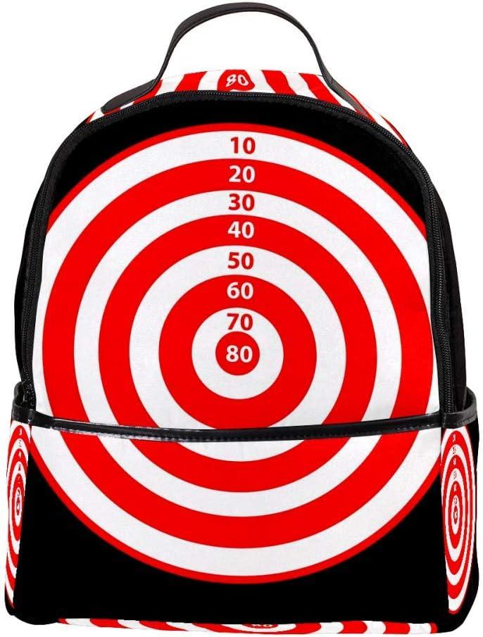 TIZORAX - Diana de dardos con puntuación para ordenador portátil, mochila de hombro casual para estudiantes, mochila escolar y bolso de mano, ligera