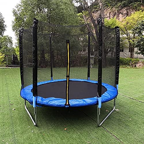 Red de seguridad para trampolín de 10 pies con cremallera y hebilla, malla de seguridad de repuesto para niños al aire libre trampolín redondo con alfombrilla de salto de resorte