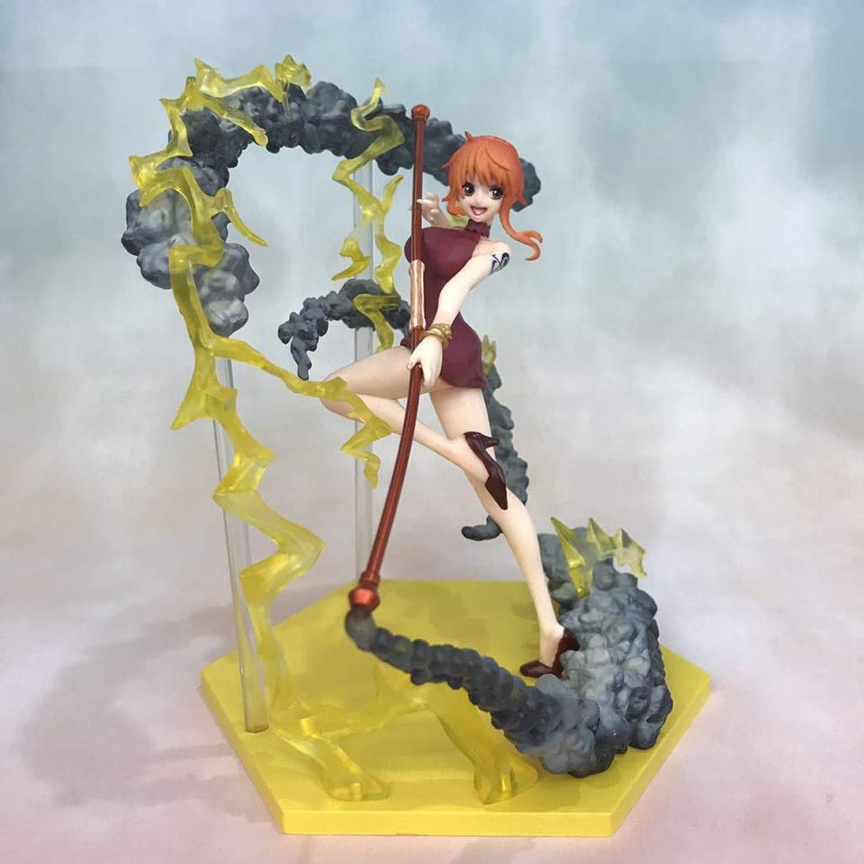 LWWOZL Une Pièce Anime Statue Nami Jouet Modèle PVC Exquis Anime Décoration Collections Artisanat -6.3in Statue de Jouet