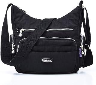 Estwell Umhängetasche Damen Kleine Schultertasche Handtasche Damentasche Wasserdicht Nylon Multifunktionale Crossbody Bag ...