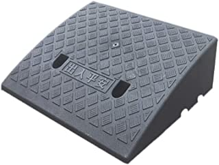 Truck Ramps, Plastic Ramps Pad Outdoor Car Uphill Pad Shopping Mall Supermarket Kerb Ramps Size: 50 * 40 * 17CM (Color : B...