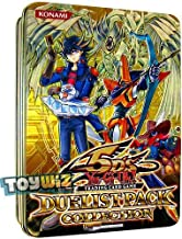 YuGiOh 5Ds 2010 Duelist Pack Exclusive Collection Tin (Yellow Tin with Starlight Road , Drill Synchron, Speed Warrior & Advance Draw)