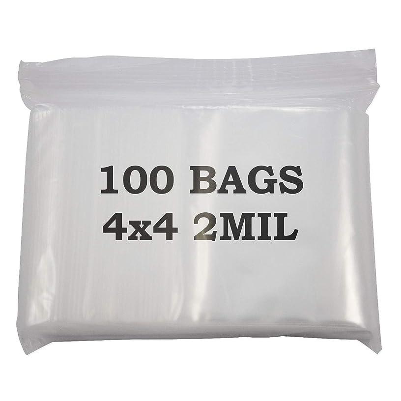 Jewelry Displays & Boxes 4x4 Plastic Zip Top Bags (Package of 100)