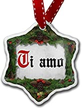 Diuangfoong Christmas Ornament I Love You Italian Classic Print from Italy