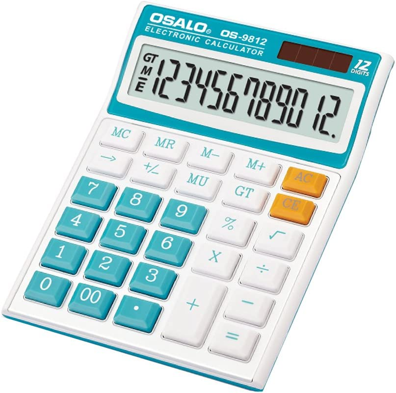 Quantity limited Albuquerque Mall Standard Function Calculator with Large 12-Digit Display Solar