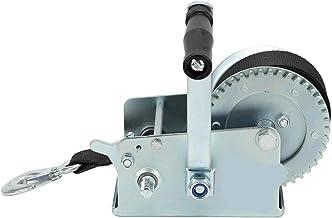 Hand Crank Winch, Heavy Duty Boottrailer Trucks Car Pull Lift Tool Carbon Steel Hand Winch Met Safety Pawl Mooring Hook