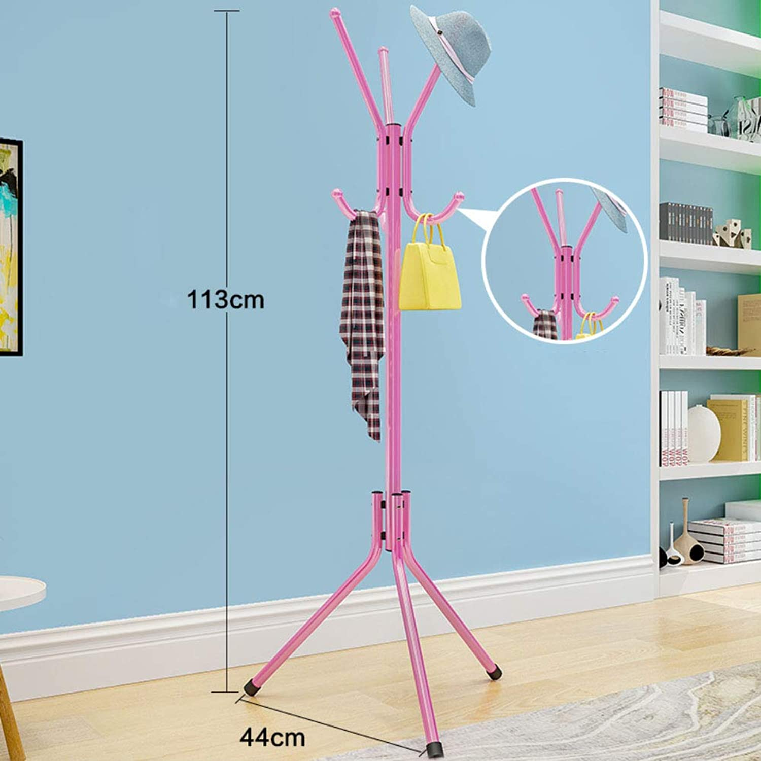 Simple Modern Coat Rack,Living Room Creativ Coat Rack Stand,Thicken Entryway Coat Tree for Jacket Purse Scarf Rack-A 44x113cm(17x44inch)