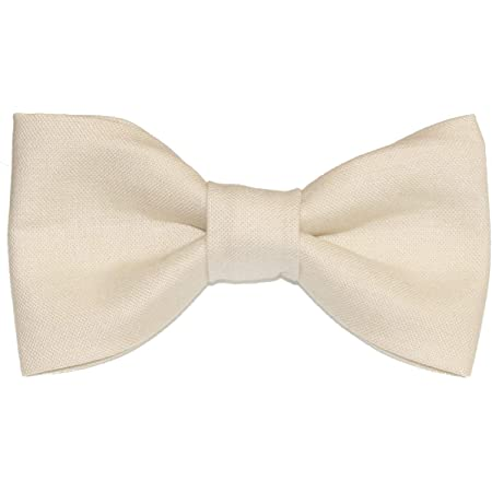Toddler Boy 4T 5T Beige Clip On Cotton Bow Tie amy2004marie