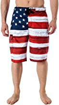 PASATO Hot Classic Casual Men's Pants,American Flag Printed Independence Day Inspiration Board Denim Shorts
