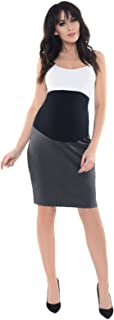 Purpless Maternity Formal Pencil Midi Skirt Over Under Belly Office Work 1504