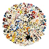 Anime Sexy Girl Laptop Stickers for Adult, Cute Lady&Loli Water Bottle Travel Case Car Skateboard Motorcycle Bicycle Luggage Guitar Bike Decal 70 Pcs (Bunny Girl)