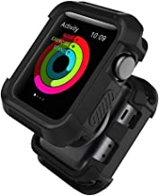 UMTELE Compatible with Apple Watch Case 38mm, Shock Proof Bumper Cover Scratch Resistant Protective Rugged Case Replacement for Apple Watch Series 3, Series 2, Series 1 38mm, Black