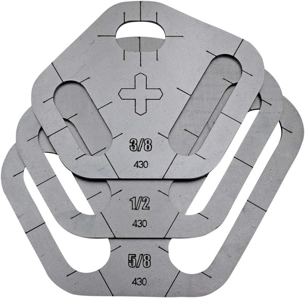 Plasma Stencil - Tri Slot Max 72% OFF Cutter Guide pc. 3 .380