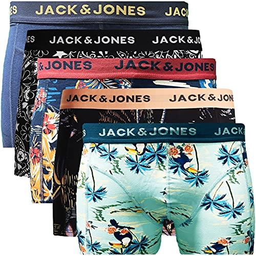 JACK & JONES Trunks 5er Pack Boxershorts Boxer Short Unterhose Mehrpack (M, 5er Pack Bunt 14)