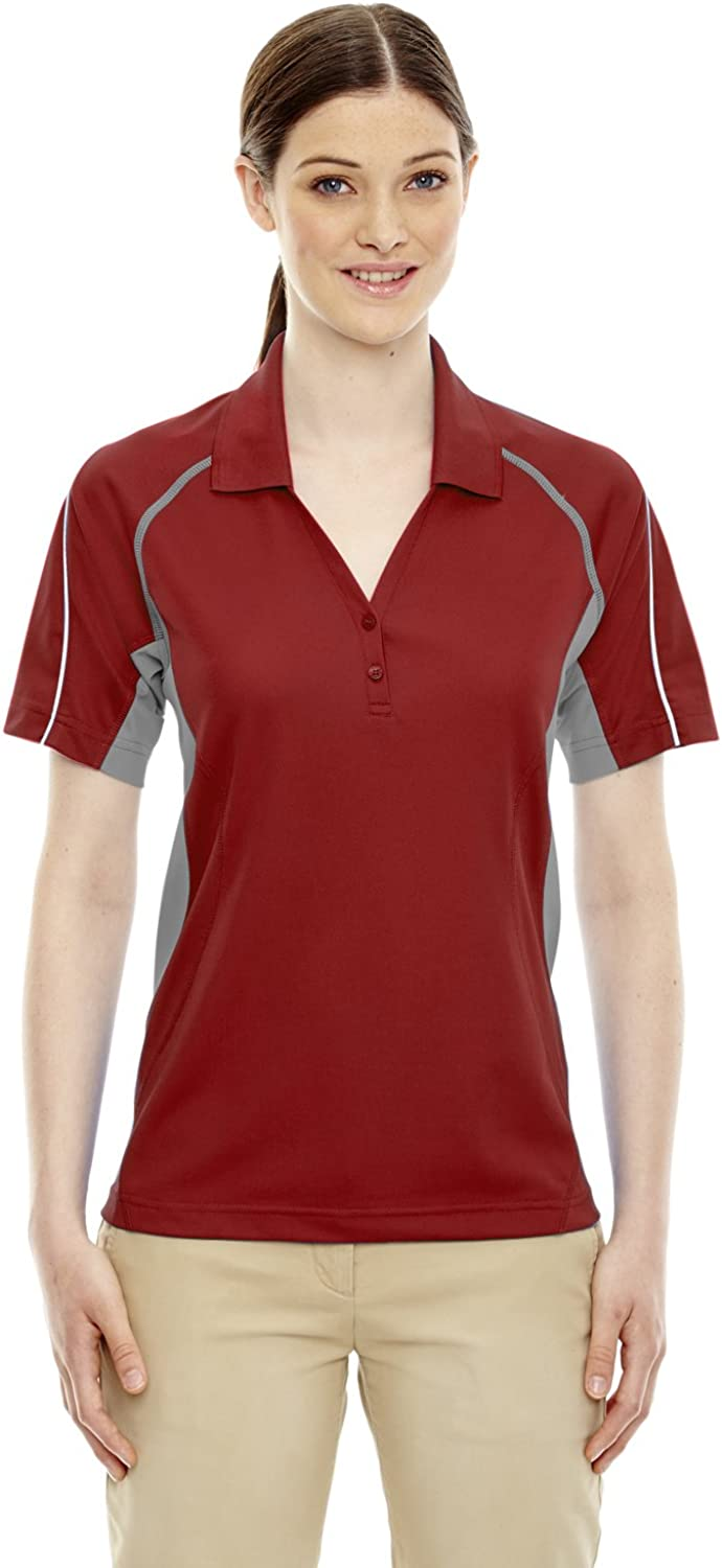 Ashe Xtream Women's ACTY-75110-Parallel Snag Protection Polo with Piping, Classic Red, X-Large