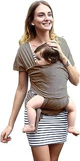 抱っこひも ベビースリング 幼児 新生児 赤ちゃん抱っこひも 授乳に便利 初めての母親のプレゼント 出産祝い 軽量 通気性いい 柔軟 肌触りいい 使いやすい 安全 持ち運び便利お出かけ ベビーラップ 女の子 男の子 (ブラウン)
