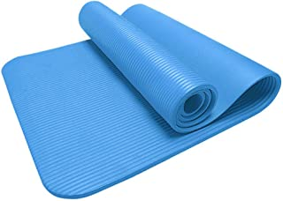 IZHH Yoga Mats for Womens,Thick Durable Yoga Mat Non-Slip Exercise Fitness Pad Mat Lose Weight (Blue-2)