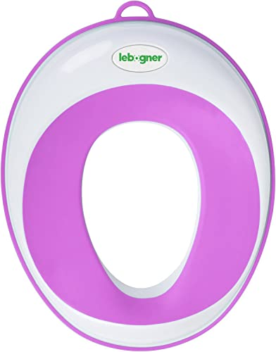 high quality Kids Toilet Training Seat By Lebogner - Purple Potty Trainer For Boys And Girls, Toddler online Toilet Topper Ring, popular Fits Elongated And Round Bowls, Secure Non-Slip Surface, Suction Cup, Storage Hook Included online