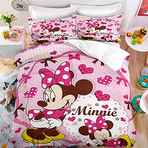 Minnie Copripiumino 220 X 240 Cm Sacco Copripiumino 240X220 Microfibra Morbida Con Cerniera E 2 Federa 50X80 Cm Matrimoniale