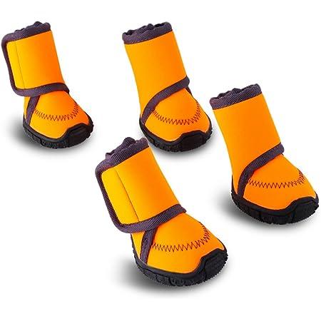 HAVEGET ドッグブーツ 犬用靴 愛犬のお散歩 滑り止め 雨の日 柔らか 軽い 中型、大型犬にもフィット 7サイズ選べる ドッグシューズ 犬靴(XXS)