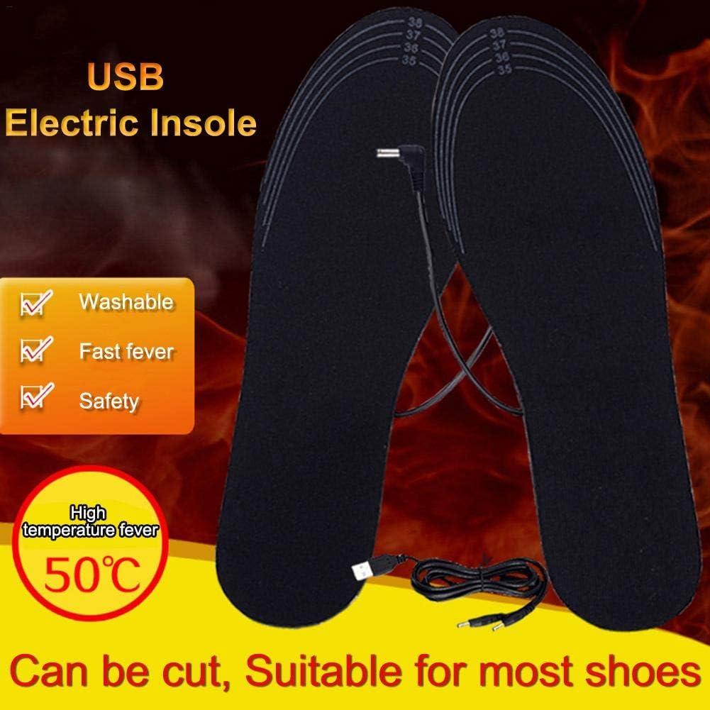 fancyU USB Heated Insoles Foot Socks Mat Pad Winter Heat Insoles Washable Charging Heating Pad