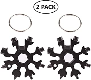 Torx Allen Flat Reductivist Compact Multi Tool Key Chain Ring with Phillips