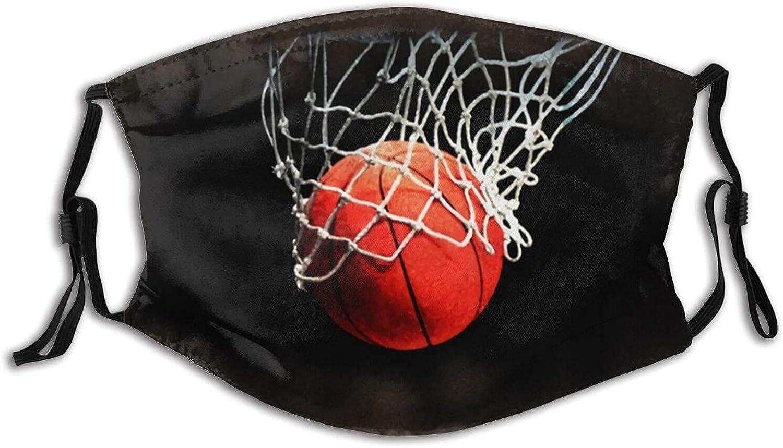 Basketball Slam Down Face Mask Adjustable Reusable Washable Balaclavas Protection Men and Women with 2 Filter