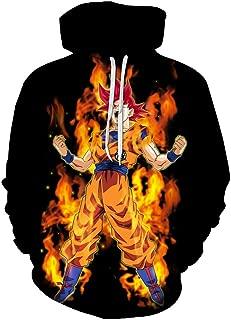 Lu&lu Men/Women/Boys/Girls Anime Dragon Ball Z Goku Hoodies 3D Print Pullover Sweatshirts Jacket S-6XL