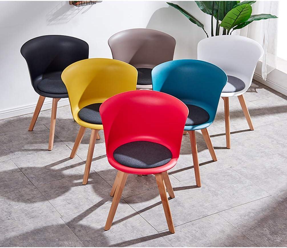 RXBFD chair Chaise de Salle à Manger Moderne avec Pieds et Coussins en Bois Massif, Courbe de Confort Ergonomique, pour Salon/café/Salon/Salle d'étude/Salle à Manger/pub Yellow
