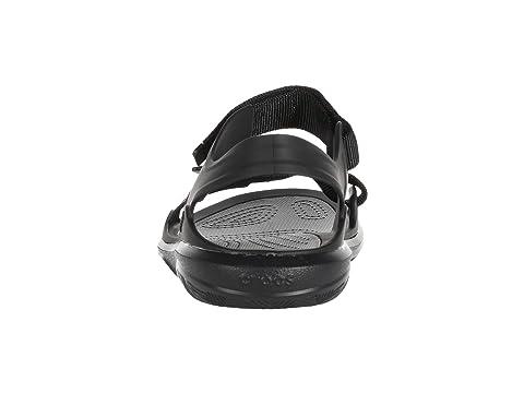 45//46 EU Slate Grey//Black 0dy Sandalias de Punta Descubierta para Hombre Gris Crocs Swiftwater Molded Expedition Sandal