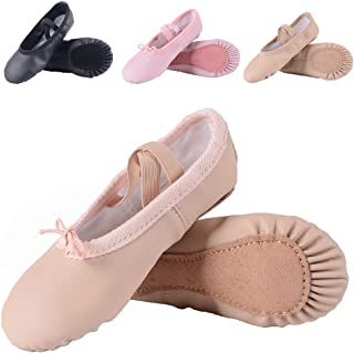 43545135625e Leather Ballet Shoes for Girls Toddlers Kids