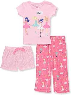 Girls' 3-Piece Cotton Pajamas