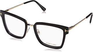 FT 5507 Geomteric Metal Eyeglasses Frame 53-18-140 Shiny Black (001)