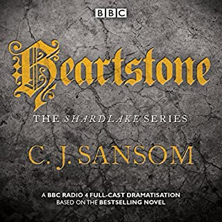 Shardlake: Heartstone     BBC Radio 4 Full-Cast Dramatisation              By:                                                                                                                                 C J Sansom                               Narrated by:                                                                                                                                 Justin Salinger,                                                                                        Bryan Dick,                                                                                        full cast                      Length: 2 hrs and 16 mins     18 ratings     Overall 4.7