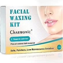 Facial Hair Removal Wax for Women, Hair Remove Waxing Kit for Women Face, non Strips Hard Wax Beans for Flawless Facial Hair Remove, Great for Upper Lip/Cheek Hair & Eyebrow Trimming.