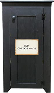 Pine Cabinet with Door and Shelves (Old Cottage White)