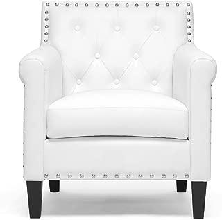 Baxton Studio Thalassa Modern Arm Chair, White