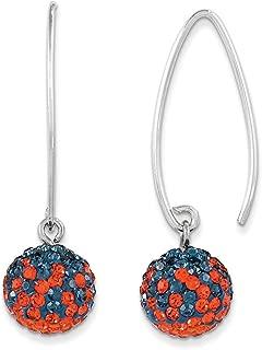 Spirit by Chelsea Taylor Sterling Silver Swarovski Crystal U of Illinois Earrings One Size