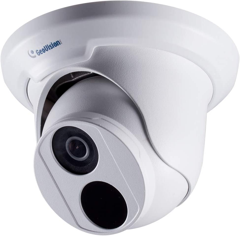 Geovision GV-EBD4700 Ultra HD 4MP Outdoor Security PoE IP Turret Eyeball Camera, 2592 x 1520, 100ft NightVision Smart IR, 2.8mm Lens, IP67 Waterproof, Low Lux, WDR Pro