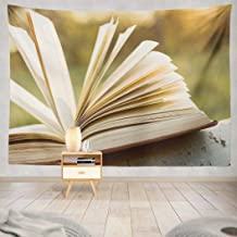 KJONG Wisdom Wall Tapestry, Education and Wisdom Open Book Sunlight Wall Tapestry 80X60 Inches Wall Hanging Tapestry Wall Art for Bedroom Living Room, Education Wisdom