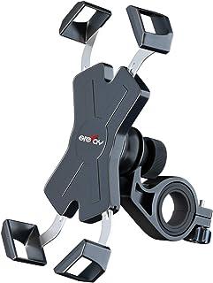 Grefay Support Téléphone de Vélo,Métal Support Smartphone de Moto Guidonavec 360° Rotation pour 4,5-7,0 Pouces Smartphones...