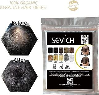 Sevich Hair Fibers - Hair Rebuilding Fibers Original Refill, Nature Keratin Fibers for Thin Hair, 100g - Black