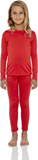 Rocky Thermal Underwear for Girls Cotton Knit Thermals Kids Base Layer Long John Pajamas Set