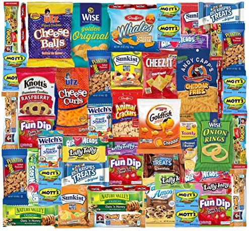 Snacks Box 48 Count Ultimate Sampler Mixed Box Cookies Chips Candy Care Package for Office Meetings product image