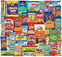 Snack Box Variety Pack (48 Count) Ultimate Sampler Mixed Box, Cookies Chips Candy Care Package for Office Meetings...