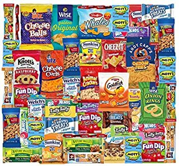 Snack Box Variety Pack  48 Count  Ultimate Sampler Mixed Box Cookies Chips Candy Care Package for Office Meetings Schools Friends Graduation 2021- College Student